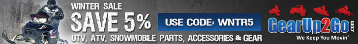 Save 5% on ATV/UTV Parts, Accessories & More at GearUp2Go.com! Use Code: WNTR5