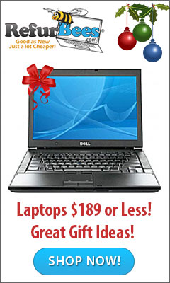Gift Ideas, Laptops for $189 or Less From Refurbees.com!