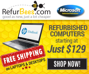 Refurbished Computers Starting a Low as $129 or Less at RefurBees.com - Get 10% OFF with code: TEN
