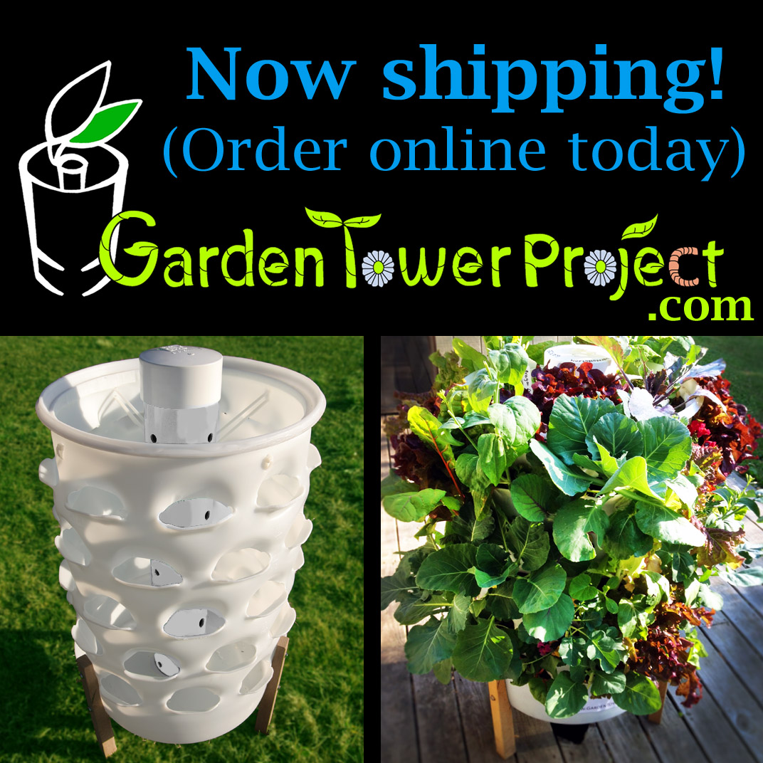 Terracotta Composting 50-Plant Garden Tower by Garden Tower Project