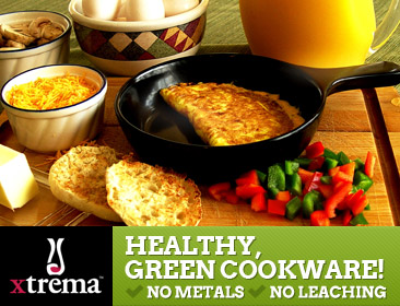 Healthy, Green Cookware: No Metals, No     																																																		<A href=