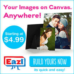 Your Images on Canvas - Anywhere! Canvas Minis Starting at $4.99