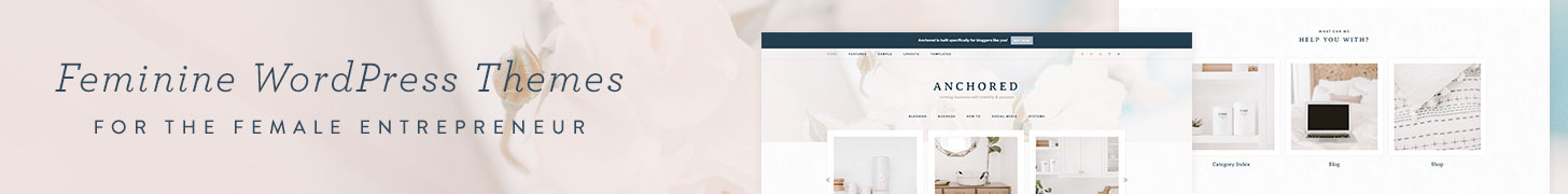 Genesis WordPress Feminine Child Themes