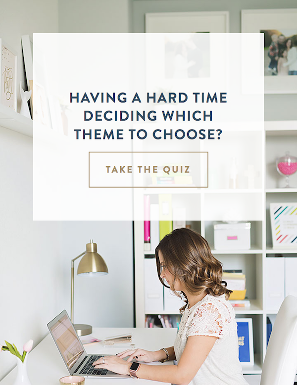 Take the quiz to see what how to choose a pretty blog WordPress theme fits your blog