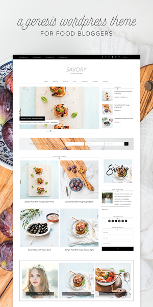 Stunning Feminine WordPress themes Savory theme