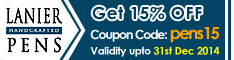 Lanierpens Coupon code - pens15