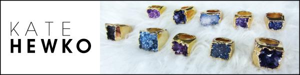Kate Hewko Gold Druzy Ring