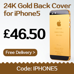 Hot 24K Gold Back Cover for iPhone 5S