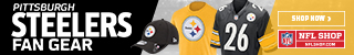 Shop for official Pittsburgh Steelers fan gear and authentic collectibles
