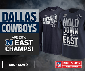 Get your Cowboys 2016 NFC East Champs Gear at NFLShop.com