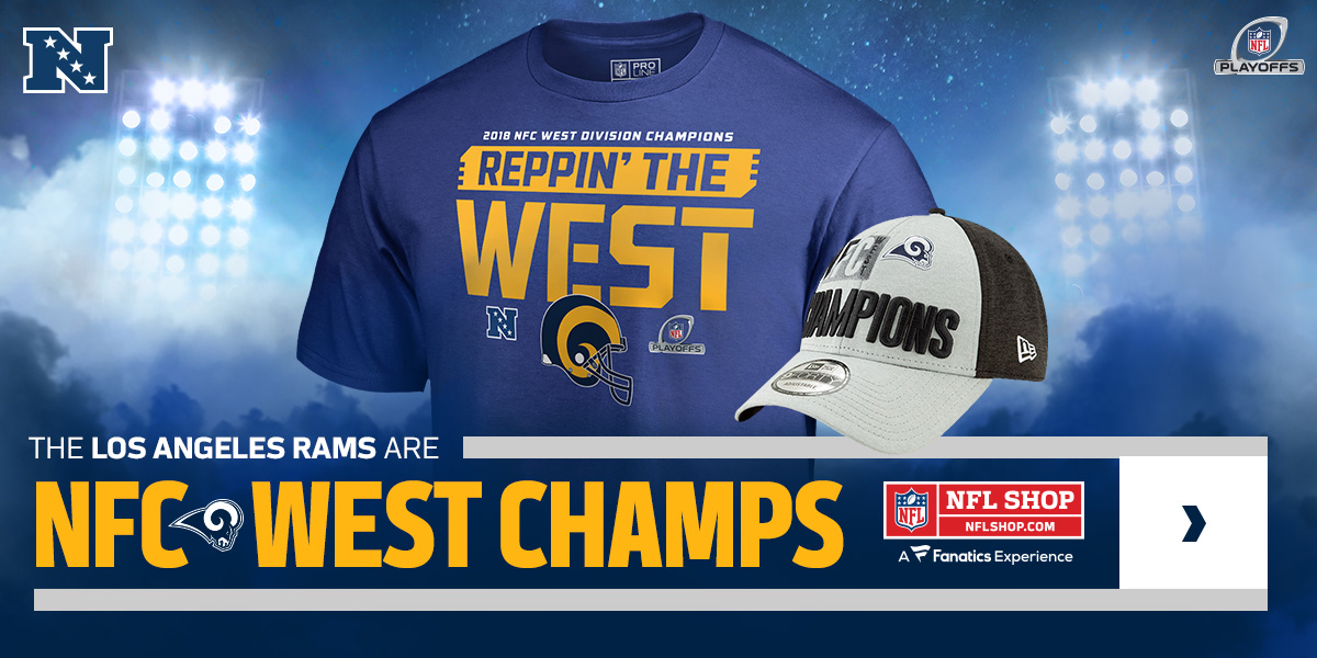 848fd131 Los Angeles Rams NFC West Champions Gear Promotions - Gridiron Fanatic