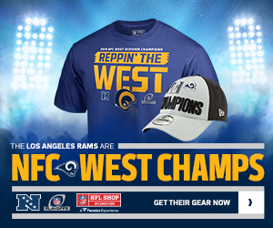 The Rams are 2018 NFC West Champs - Gear Up at NFLShop.com
