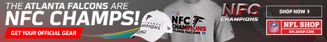 The Falcons are Champions of the Dirty South! Get your NFC South Champs Gear at NFLShop.com