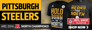 Get your Steelers 2016 AFC North Champs gear at NFLShop.com