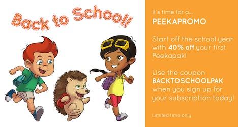 Back to School with Peekapak Promotion
