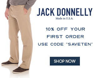 SaveTen on your first purchase at Jackdonnelly.com