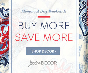 Save up to 25% Off Sitewide during Loom Decor's Buy More, Save More Memorial Day Sale!