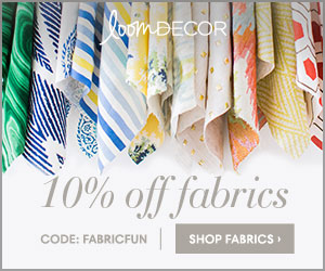 Save 10% off of all designer fabrics by the yard at Loom Decor using code FABRICFUN!