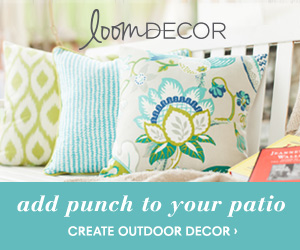 Add punch to your patio with Loom Decor's outdoor decor!