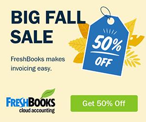Freshbooks  Accounting Software Deal April 2020