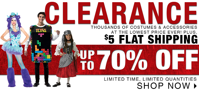 BuyCostumes Costume Clearance Sale