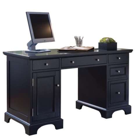 Bedford Double Pedestal Computer Desk: Save 30%, now $530!