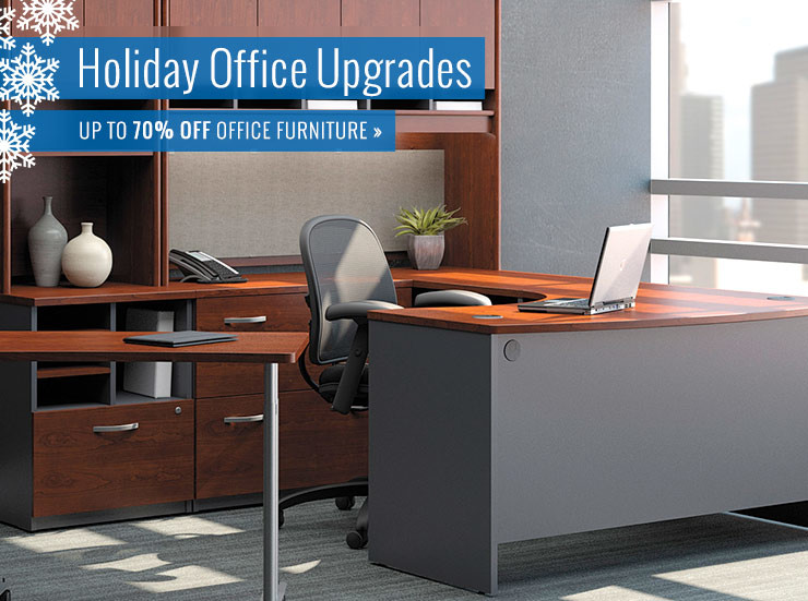 Throughout the Holiday Season save up to 70% on office furniture!