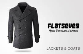 FLATSEVEN Mens Coat