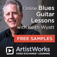 Online blued guitar lessons keith wyatt