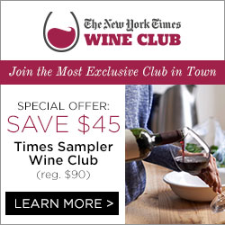Save $45 on NYTimes Sampler Wine Club.