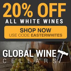 Save 20% on all White Wines. Use code EASTERWHITES. Ends 3/31