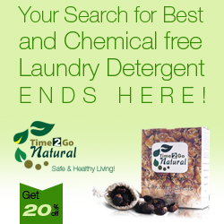 Organic Laundry Detergents from Time 2 Go Natural