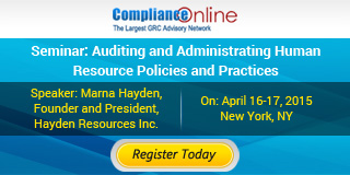 Seminar : Auditing and Administrating Human Resource Policies and Practices