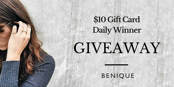 Enter the BENIQUE Daily $10 Gift Card Giveaway