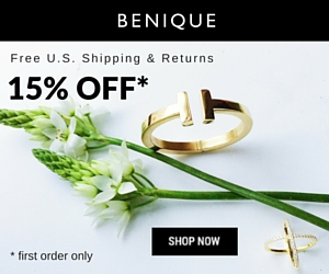 Benique banner - 15% off first order