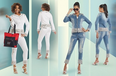 Donna Vinci Jeans. Stretch and Embelished Denims for One Of A Kind Women
