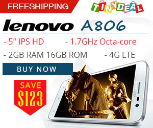 Save $123 for Lenovo A806 from TinyDeal