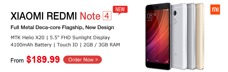 New Flagship XIAOMI REDMI NOTE 4@TinyDeal