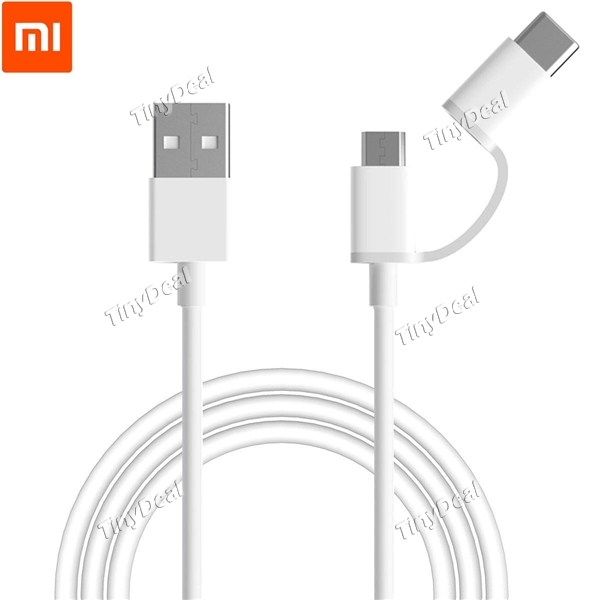 18% off Original Xiaomi 2 in 1 Type-C and Micro USB 1M Cable