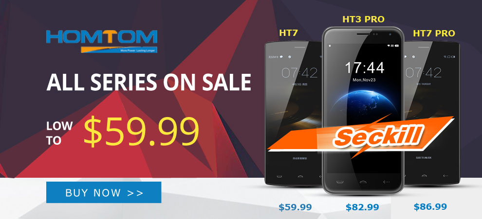 Homtom HT3 Pro Limited Flash Sale