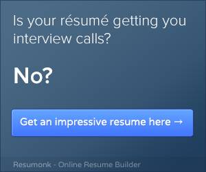 Not getting interview calls? Create an impressive resume using Resumonk to get them.