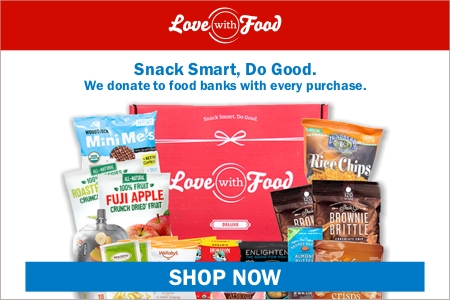 Get 40% off your first Love With Food snack box, and get a year subscription to Good Housekeeping included!