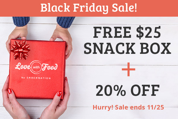 FREE $25 Snack Box + 20% Off All Subscriptions Sale Ends 11/25