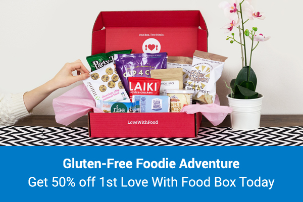 Get 50% off your first Gluten Free Love With Food box!