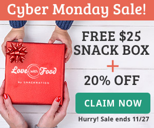 FREE $25 Snack Box + 20% Off Sale Ends 11/27