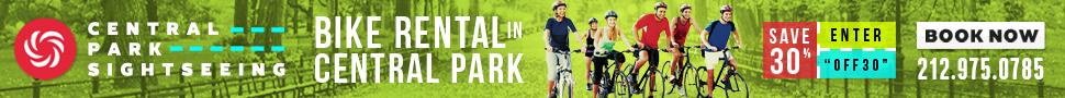 Central Park Bike Rental Save 30%