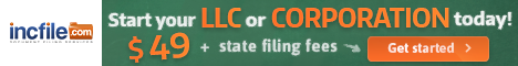 incfile to start an LLC or Corp Banner