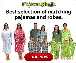 Best selection of matching pajamas and robes at PajamaMania.com!
