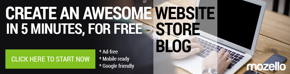 Create an awesome website, online store or blog, for free