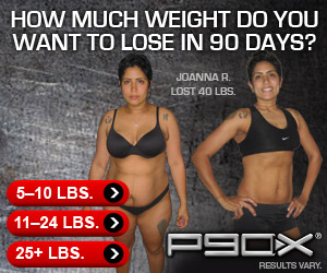 Transform your body in just 90 days with P90X!